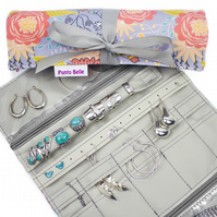 Ultimate Jewellery Roll In Exclusive Punto Belle Fabric 'Birds'