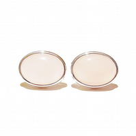 Semi-precious Gemstone Cufflinks - Pink Rose Quartz