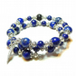 Blue Lapis Lazuli Gemstone & Lava Stone Essential Oil Diffuser Bangle
