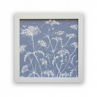 Cow parsley screen print