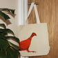 Canvas tote bag, shoulder bag, pheasant design