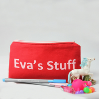 Personalised pencil case for kids, back to school, birthday gift