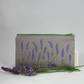 Handmade lavender design make up bag, cosmetics, toiletries storage, travel bag