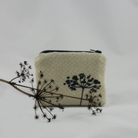 Handmade coin purse or jewellery travel bag