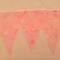 Bunting Pink Baby 8ft - 8 FLAGS!