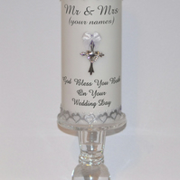 Personalised Wedding Candle. Wedding Favors. Bride & Groom. Made To Order.