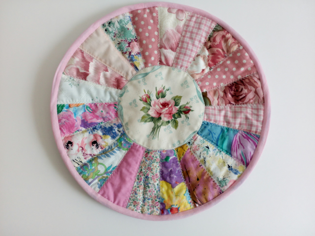 Table mat, Placemat, quilted, patchwork, round, table centrepiece, large coaster