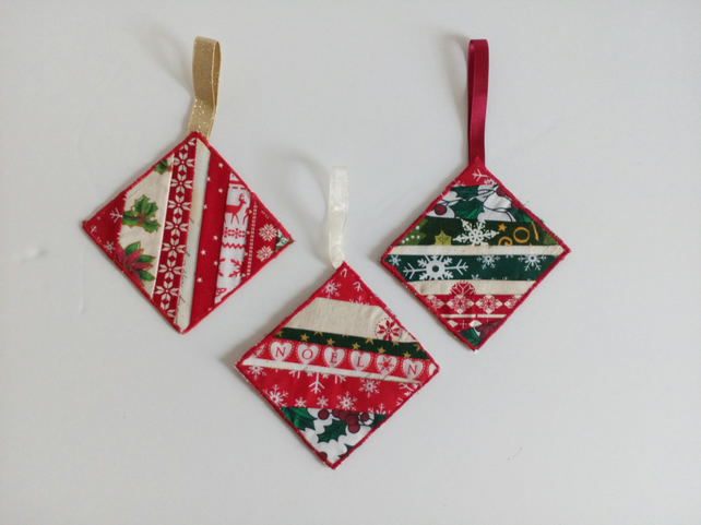Christmas Decorations Handmade Patchwork Tr Folksy