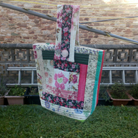 Peg Bag, quilt as you go peg bag