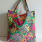Fabric shopping bag, cloth bag, cotton bag, fish design, tote, bag, fun, shopper