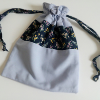 Drawstring bag, make up bag, travel bag, accessories bag,