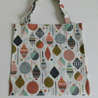 Xmas gift bag, baubles, gifts, 100% cotton bag, Christmas gift bag, gift wrap
