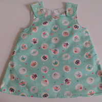 6-12 months, Summer dress, A line dress, pinafore, animals, Dress
