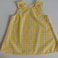 12-18 months, Yellow gingham, A line dress, Summer dress, pinafore, dress