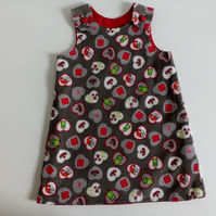 Age 2 years, Corduroy, A line dress, pinafore, elves, woodland, frogs