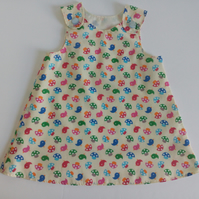 18-24 months, A Line dress, Summer dress, pinafore, birds, dress