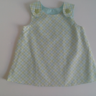 3-6 months,  Plaid dress, Summer dress, A Line dress, pinafore dress