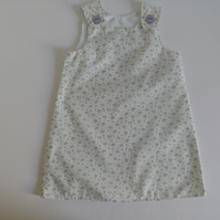 Age 2 years, Summer dress, A line dress, pinafore, lilac floral dress