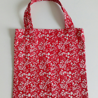 Gift bag, leaves, gifts, 100% cotton bag, red gift bag