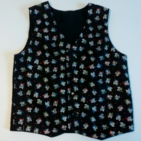 Age 5 years, boys waistcoat, pirates, skull and crossbones