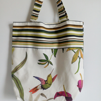 Shopping bag, cloth bag, Hummingbird, parrot, tote bag, grocery bag