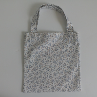 Xmas gift bag, 100% cotton bag, white Christmas gift bag, xmas branches