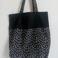 Tote bag, Fabric shopping bag, cloth bag, bag, tote, black and white stars