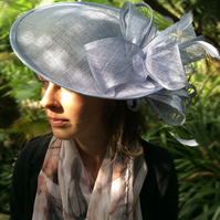 Gorgeous Light Powder Blue Sinamay Fascinator on Headband