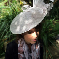 Gorgeous Lavender Sinamay Fascinator on Headband