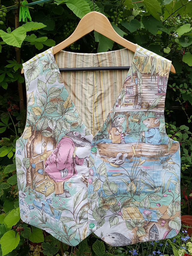 Handmade large Wind in the Willows Waistcoat.