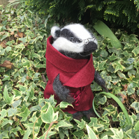 Needle Felted 'Wind in the Willows' character....'Mr Badger' - Made to order