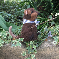 Needle Felted 'Wind in the Willows' character...'Ratty' - Made to order