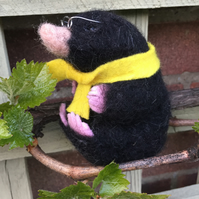 Needle Felted Character 'Mole' from Wind in the Willows - Made to order