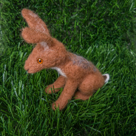 Needle Felted Hare - Made to order