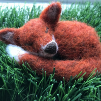 Needle Felted Fox - Made to order