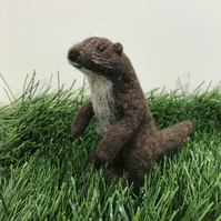 Needle Felted Otter - Made to order