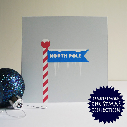 'North Pole' Handmade Christmas Cards - Set of Ten