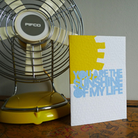 Tea & Ceremony 'You Are The Sunshine Of My Life' Greetings Card
