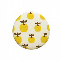 Fabric Covered Pocket Mirror - LittleYellow Apples