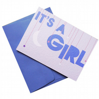 A Star Is Born - It's A Girl Greetings Card