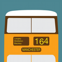 Manchester Bus Print