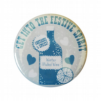 Mulled Wine Christmas Badge