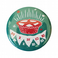 Mince Pie Christmas Badge