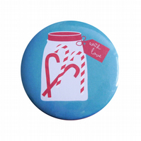 Candy Cane Christmas Badge
