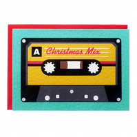 Christmas Mix Tape Card