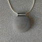 Minimalist concrete pendant necklace - 'The Pill'