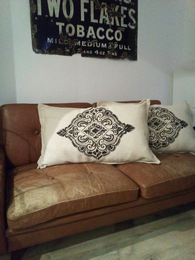 Moroccan Styled Large Rectangular Hand Printed Cushion, Soft Furnishing