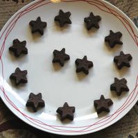 100G HOME MADE SUGAR FREE CHOCOLATE STAR SHAPES! DIABETIC! DAIRY FREE! VEGAN!