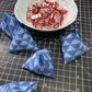 Pack of 12 blue Geometric cotton pattern weights