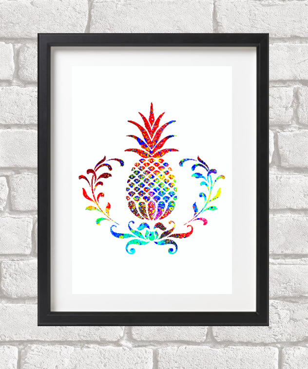 Pineapple  Giclee Fine Art Print A4 size